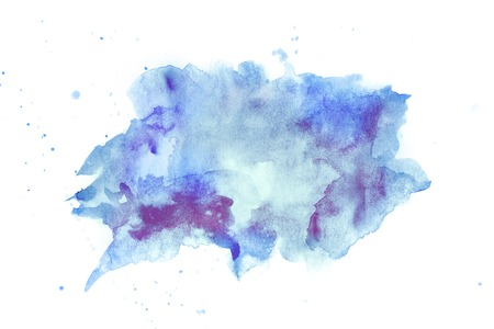 Photo for Abstract watercolore blue and violette stain - Royalty Free Image