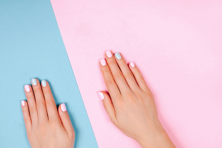 Photo pour Stylish trendy female manicure - image libre de droit