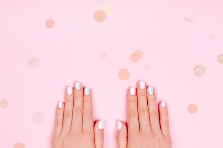 Foto de Stylish trendy female manicure - Imagen libre de derechos