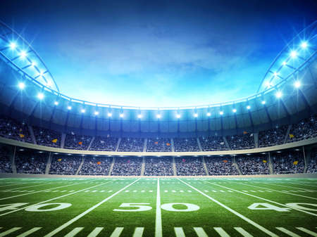 Photo pour American football stadium - image libre de droit