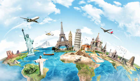 Foto de Travel the world monument concept - Imagen libre de derechos