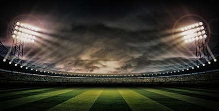 Photo pour Stadium dark night - image libre de droit