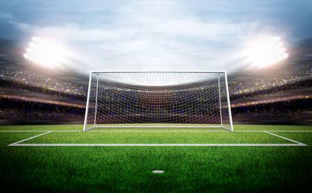 Photo pour Goal Post - image libre de droit