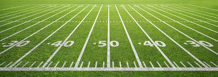 Photo pour american football field and grass - image libre de droit