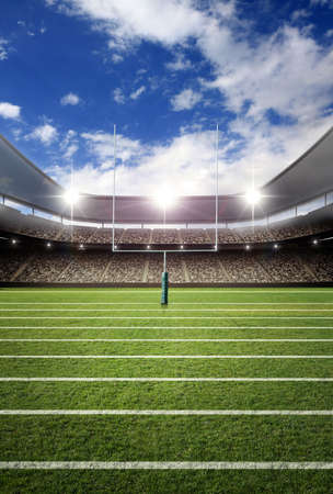 soccer stadium, the imaginary soccer stadium is modeled and rendered.