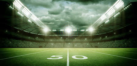 American Football Stadium, the imaginary soccer stadium is modeled and rendered.