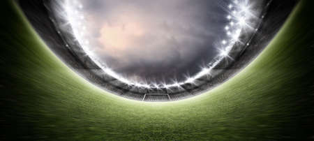 stadium, the imaginary soccer stadium is modeled and rendered.