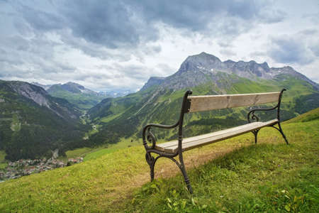 Foto de Mountains landscape in Vorarlberg, Austria - Imagen libre de derechos