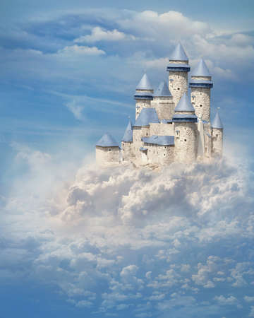 Photo for Fantasy castle in the clouds - Royalty Free Image