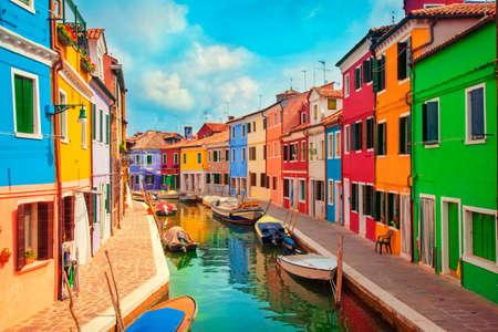 Foto de Burano, an island in the Venetian Lagoon - Imagen libre de derechos