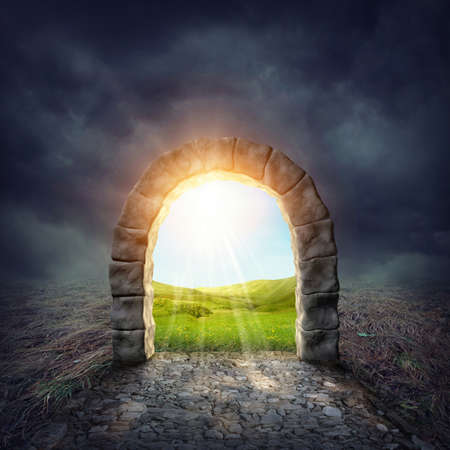 Foto de Mysterious entrance to new life or beginning - Imagen libre de derechos