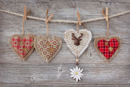 Photo for Christmas decoration over wooden background - Royalty Free Image