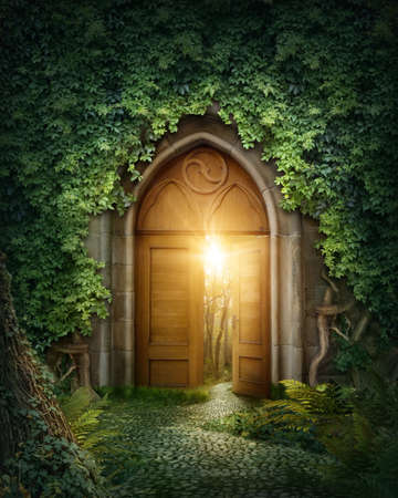 Photo pour Mysterious entrance to new life or beginning - image libre de droit
