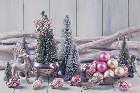 Foto de Pastel colored decoration for christmas - Imagen libre de derechos