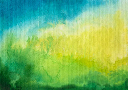 Photo for Abstract green blue watercolor background - Royalty Free Image