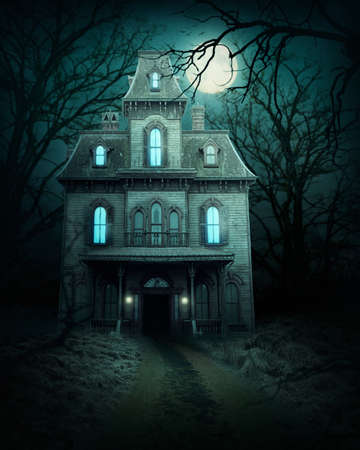 Photo for Haunted house in the forest - Royalty Free Image