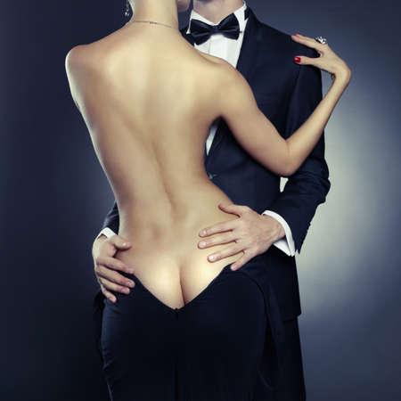Photo pour Conceptual photo of sexy elegant couple in the tender passion - image libre de droit