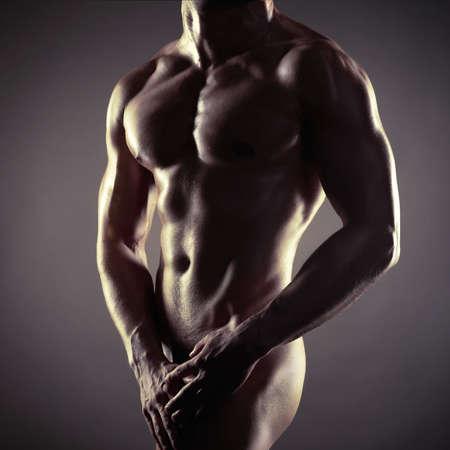 Foto de  athlete with strong body - Imagen libre de derechos