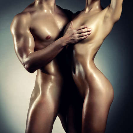 Photo pour Art photo of nude sexy couple in the tender passion - image libre de droit