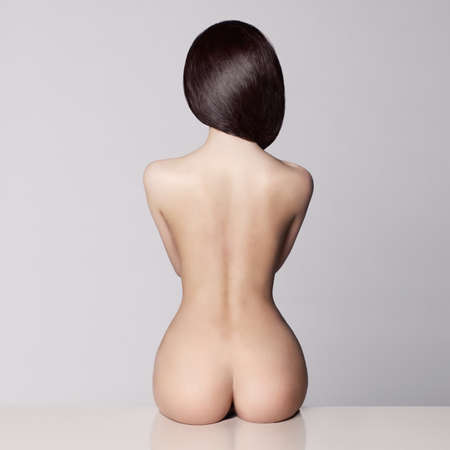 Photo for perfect female body with beautiful nude booty - Royalty Free Image