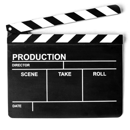 Photo for The Clapper board on white background - Royalty Free Image