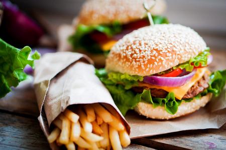 Foto per burger - Immagine Royalty Free