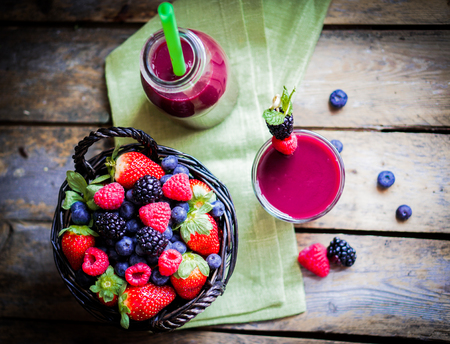 Photo for berry smoothie - Royalty Free Image