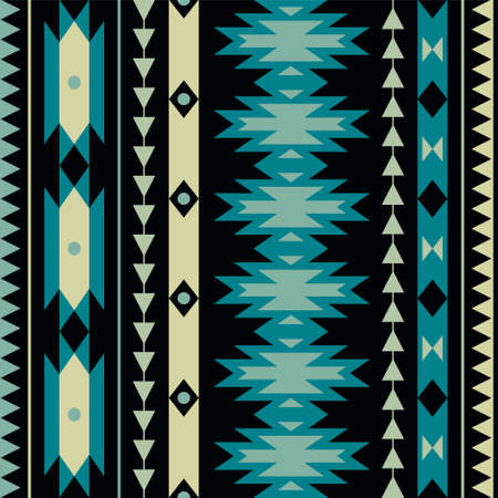 Illustration for Vector seamless colorful decorative ethnic pattern - Royalty Free Image