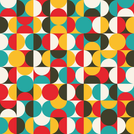Photo pour Retro seamless pattern with circles  Colorful background  - image libre de droit