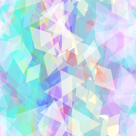 Illustration pour Abstract geometric seamless pattern with rhombus and brilliant decorative contemporary elements. purple lilac blue aqua geometric print, ethnic hipster trendy backdrop. Vector illustration - image libre de droit