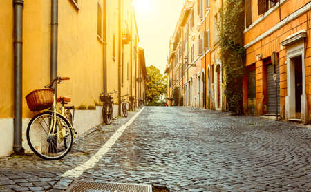 Photo pour Old street in Rome, Italy - image libre de droit