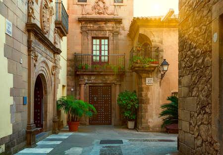 Foto de Poble Espanyol - traditional architectures in Barcelona, Spain - Imagen libre de derechos