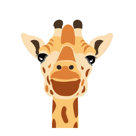 Illustration pour Cartoon giraffee head image illustration - image libre de droit