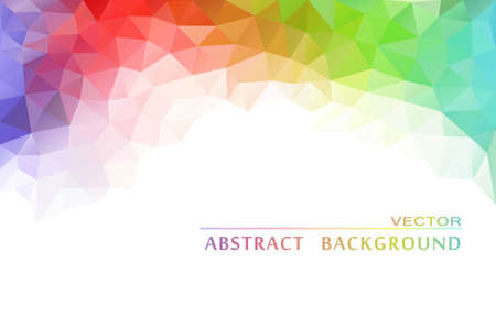 Illustration pour Abstract  geometric colorful background - image libre de droit