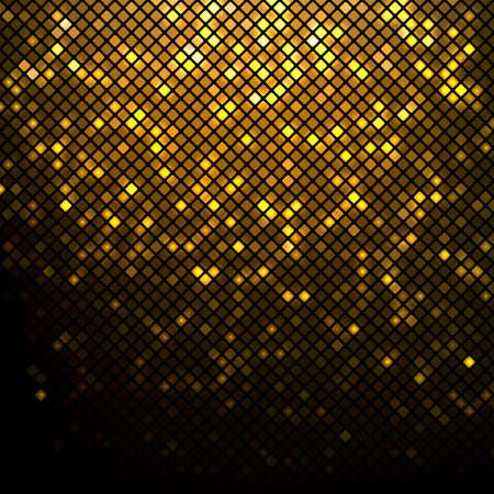 Illustration for Shining golden disco mosaic background - Royalty Free Image