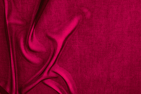 Photo for Texture, background, pattern. Red transparent fabric. Organza Silk Fabric Hand Dyed Madder Pale orange rust Red tangerine transparent natural plant - Royalty Free Image