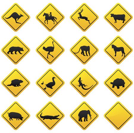 Illustration for Animal traffic sign  - Royalty Free Image