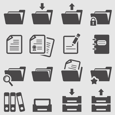 Photo pour Folder icons set - image libre de droit