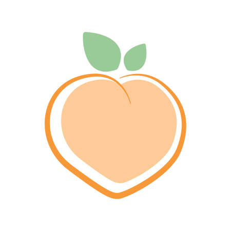 Illustration pour Peach. Logo design. Vector illustration. - image libre de droit
