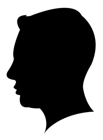 Illustration pour a man head silhouette - image libre de droit