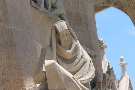 Foto de Sculpture on Segrada Familia Barcelona - Imagen libre de derechos