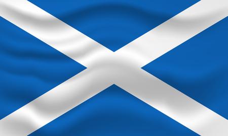 Foto für Waving flag of Scotland. Vector illustration for your design - Lizenzfreies Bild