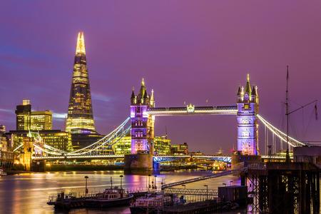 Foto de View of Tower Bridge in the evening - London - Imagen libre de derechos