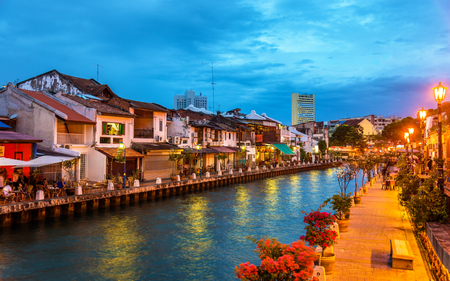 Photo for The old town of Malacca, a UNESCO World Heritage Site in Malaysia - Royalty Free Image