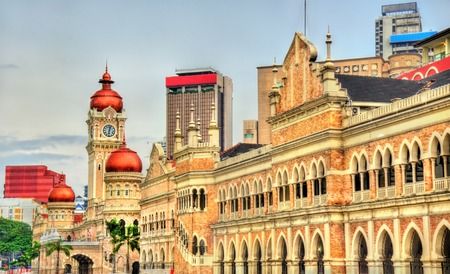 Foto de Sultan Abdul Samad Building in Kuala Lumpur. Built in 1897, it houses now offices of the Information Ministry. Malaysia - Imagen libre de derechos