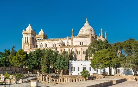 Photo pour The Acropolium, also known as Saint Louis Cathedral at Byrsa - Carthage, Tunisia - image libre de droit