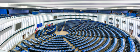 Photo for Plenary hall of the European Parliament in Strasbourg, France - Royalty Free Image