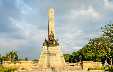 Photo pour The Rizal Monument in Rizal Park - Manila, Philippines - image libre de droit