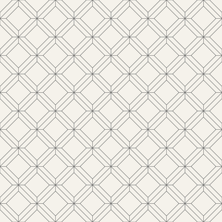 Illustration pour Vector seamless pattern. Regularly repeating geometric tiles of rhombuses. Linear style. Abstract geometric background. Modern linear texture with thin lines. - image libre de droit