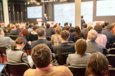 Photo for Business Conference and Presentation. Audience at the conference hall. - Royalty Free Image
